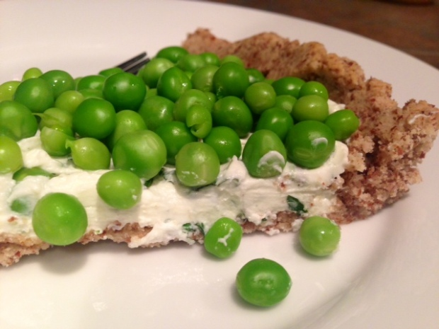 Herbed Goat Cheese & Spring Pea Tart slice