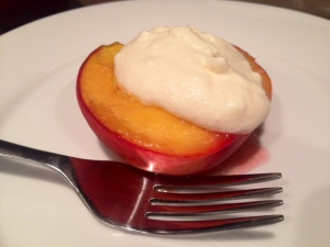 Honey Roasted Peaches with Cream