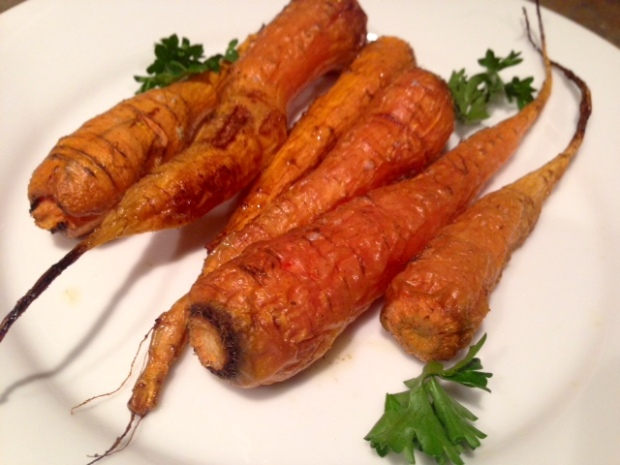 Roasted Carrots with Smoked Salt & Thyme done
