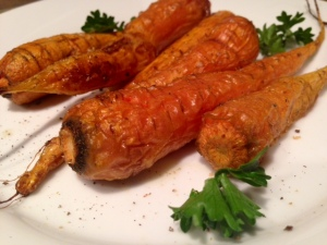 Roasted Carrots with Smoked Salt & Thyme