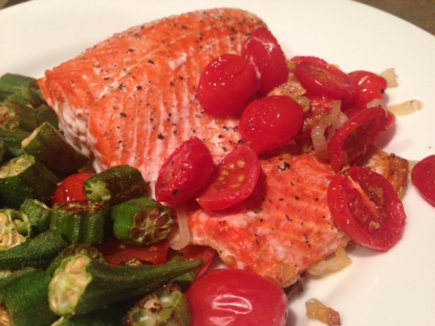 Roasted Salmon with Shallots & Tomatoes – finding time for ...