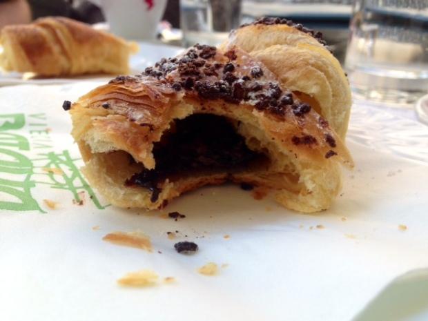 croatia chocolate croissant