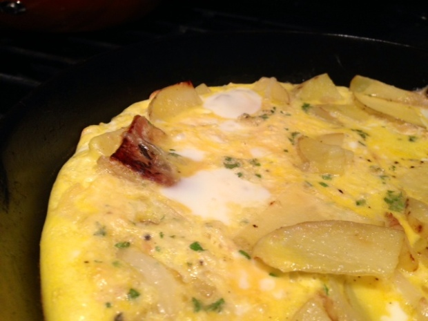 traditional spanish tortilla eggs cooked