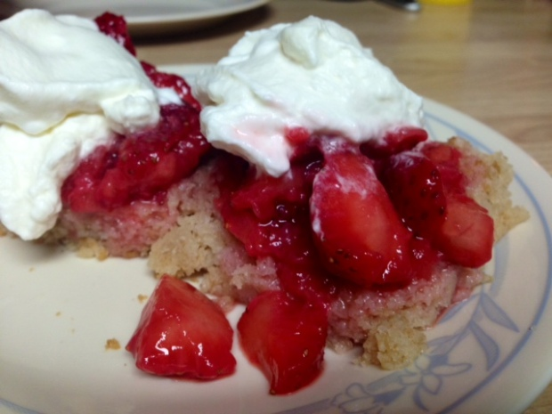 Moist Strawberry Shortcake