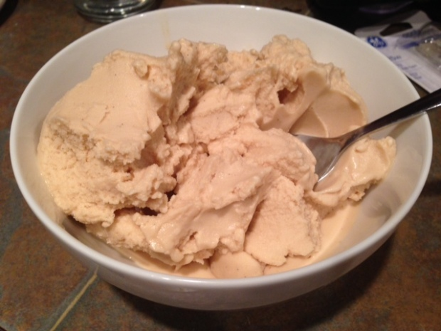Peanut Butter & Honey Ice Cream with Sea Salt done