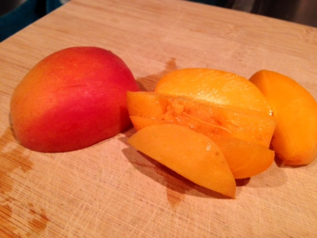 roasted apricot ice cream apricots sliced