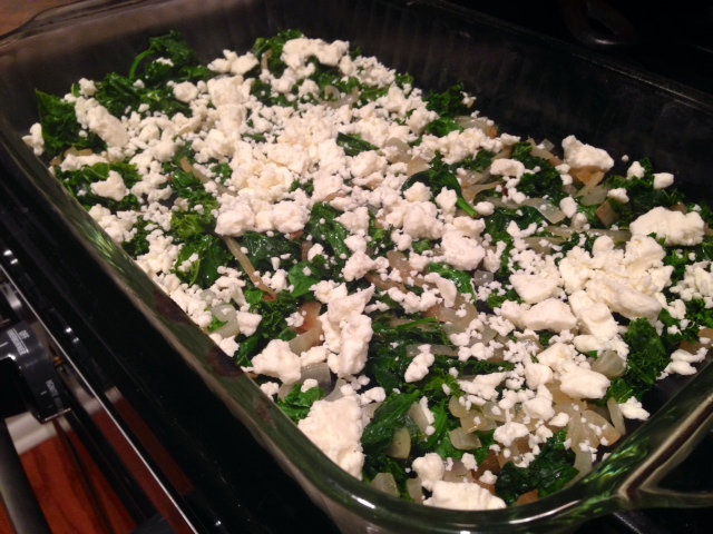 Kale & Feta Breakfast Casserole – finding time for cooking