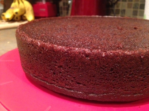 chocolate stout cake cooking