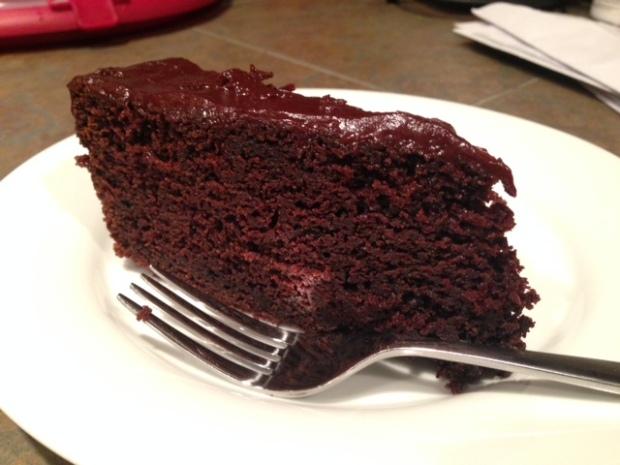 Chocolate Stout Cake with Chocolate Ganache slice