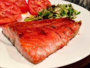 Pan Caramelized Salmon