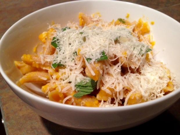 Butternut Squash Leek & Parmesan Pasta 2