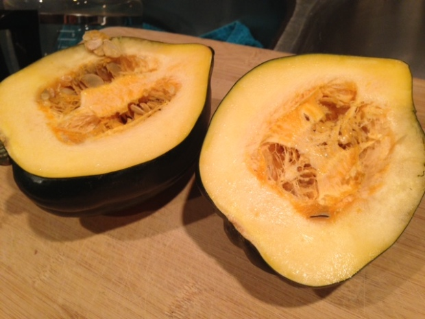 parmesan roasted acorn squash cut