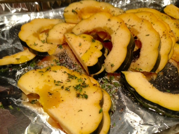 parmesan roasted acorn squash oil spices