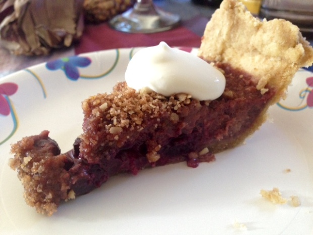 Bing Cherry Pie with Streusel