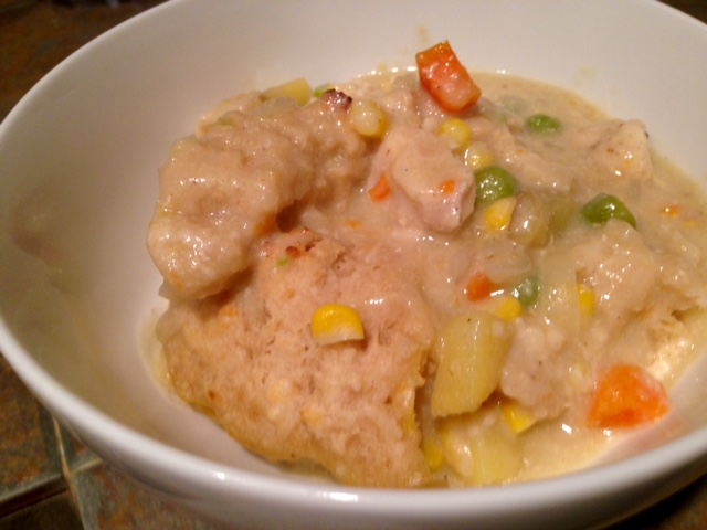 Chicken Pot Pie With Drop Biscuit Crust 3