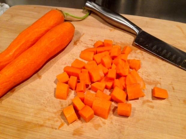 chicken pot pie with drop biscuit crust carrots