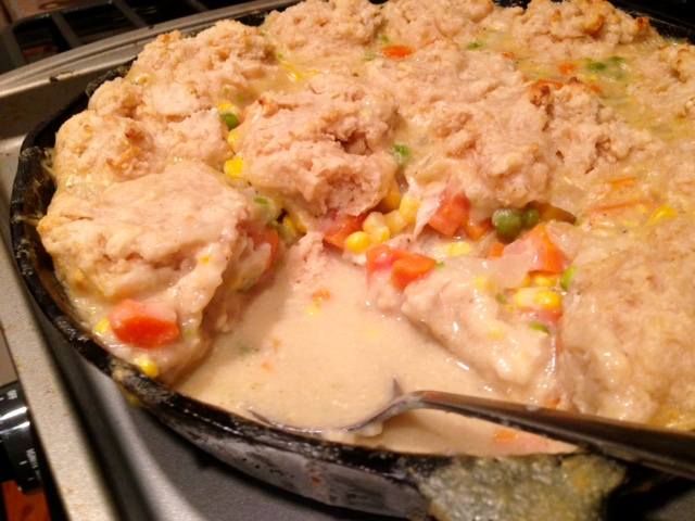 Chicken Pot Pie With Drop Biscuit Crust Dipped Up
