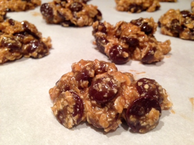 maple peanut butter oatmeal chocolate chip cookie ready to bake closeup