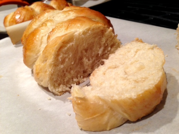 Easy, Awesome Challah Bread cut