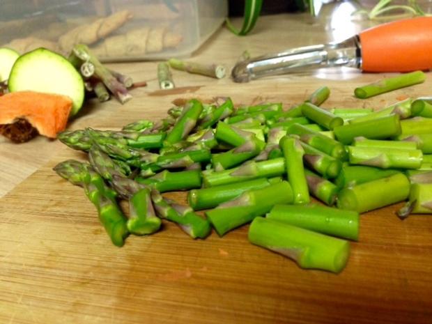 risotto primavera asparagus diced