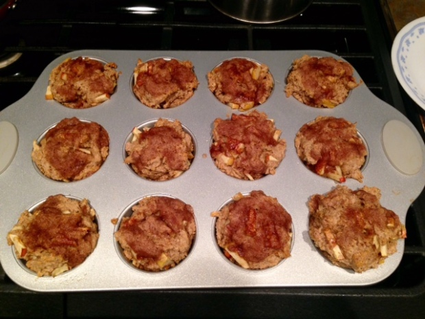 Healthy Apple Cinnamon Muffins finished