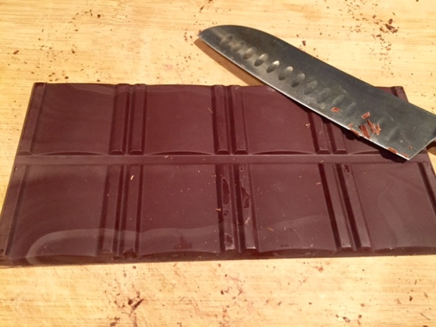 salted dark chocolate chunk cookies chocolate bar
