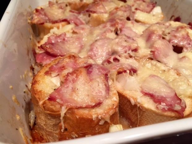 Drunken Cheesy Bread closeup