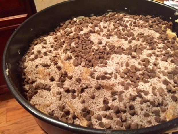 espresso chocolate coffee cake ready to bake