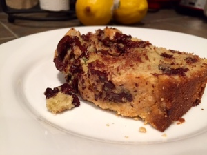 Rosemary Chocolate Chip Olive Oil Cake slice