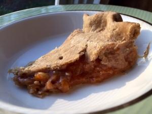 Peach Rhubarb Pie
