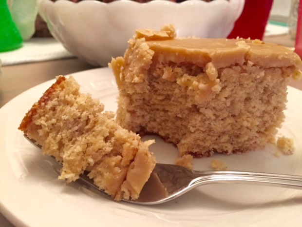 Banana Cake with Caramel Frosting done