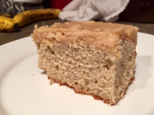 Banana Cake with Caramel Frosting slice2