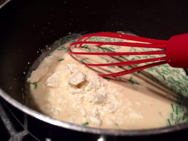 chicken with creamy feta sauce bechamel feta