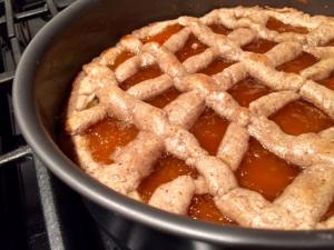 Apricot Linzer Torte