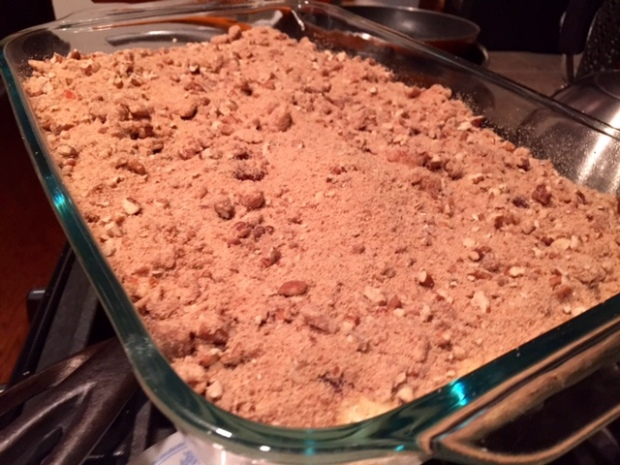 jam streusel coffee cake assembled