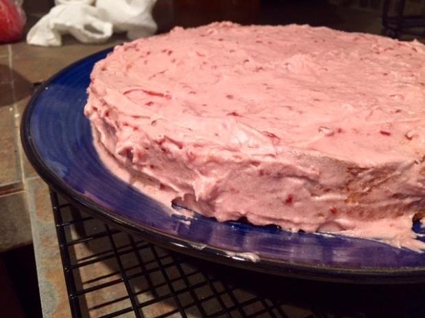Lemon Raspberry Cake with Raspberry Frosting