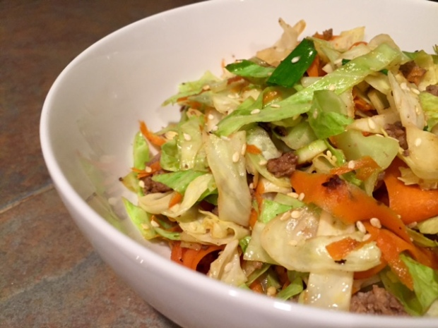 Beef & Cabbage Stir Fry...healthy, easy, yummy
