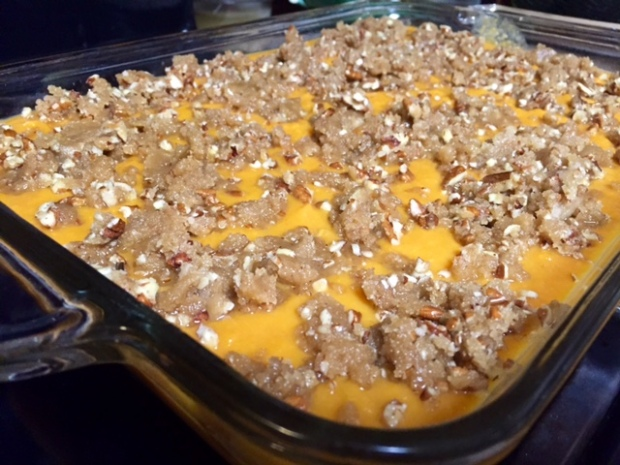Mom's Sweet Potato Casserole, her must-have for Thanksgiving. None of that marshmallow nonsense here.