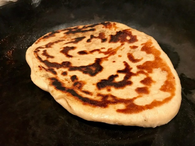 This has become my go-to homemade naan bread recipe