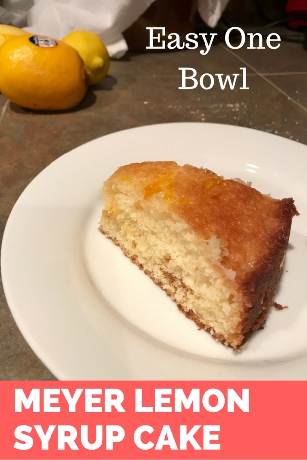 Easy One Bowl Meyer Lemon Syrup Cake with Jam Swirls | finding time for cooking