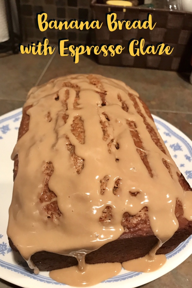 Banana Bread with Espresso Glaze | Finding Time for Cooking