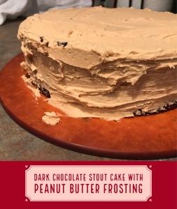 Chocolate Stout Peanut Butter Cake overlay
